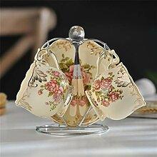 Keramik-Tassen Und Untertassen Bone China