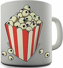 Keramik Tee Becher Popcorn Eye Bälle von Twisted Envy, keramik, weiß, 15 OZ