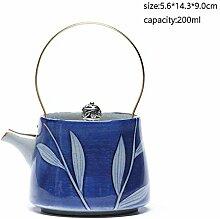 Keramik Tee-Set 200 Ml Vintage Handgemalte Blaue