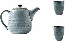 Keramik Tee-Set Japanische Teekanne Porzellan