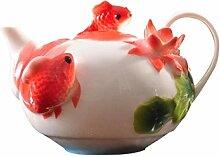 Keramik Tee-Set Keramik Teekanne Filter Hause