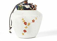 Keramik-Teebox getrocknete Obstdosen versiegelte