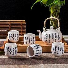 Keramik Teekanne Kettle e Set Porzellan Kung Fu