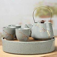 Keramik Teekanne Kettle e Set Porzellan Reise Kung