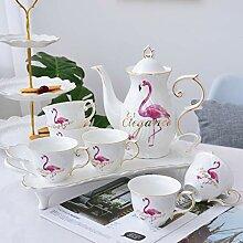 Keramik Teekanne Kettle e Set Porzellan Teeservice
