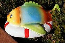 Keramik Tierfiguren für Gartenteich schwimmend
