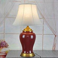Keramik Tischlampe Hotel Lampe Lampenschirm, E27