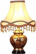 Keramik Tischlampe Schlafzimmer Nachttischlampe