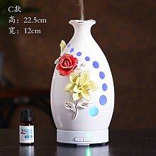 Keramik Ultraschall Aromatherapie Aromatherapie Befeuchter gesteckt Spray Machine, Wasser Tankinhalt: 100 ml, C, 22,5 * 12 Cm
