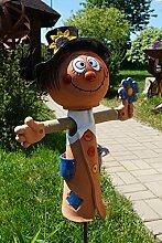 Keramik Vogelscheuche Bubi 46 cm Gartenstecker Dekoration Handarbeit Terrasse