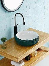 Keramik Waschbecken 400 * 400 * 130mm Runde Kunst