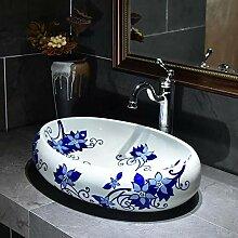 Keramik Waschbecken Bad über Theke Becken oval
