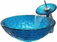 Keramik-Waschbecken Badezimmer Ausgeglichenes Glas