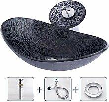 Keramik-Waschbecken Badezimmer gehärtetes Glas