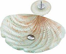 Keramik-Waschbecken Minimalist Moderne Shell Welle