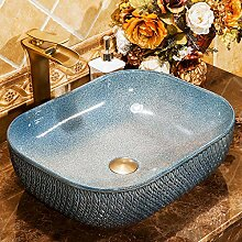 Keramik Waschbecken Quadrat über Theke