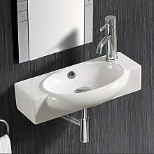Keramik Waschtisch Waschbecken Handwaschbecken zur Wandmontage 4522TR