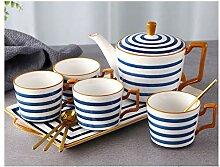 Keramik-Wasser-Schalen-Tee-Set Wohnzimmer