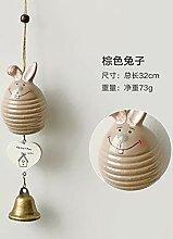 Keramik Wind Glocke hängen kreative Mädchen