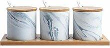 Keramik Würze Gewürz Glas, Marmor Gewürzgläser