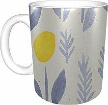 Keramikbecher für Männer Schöne gelbe Frühling