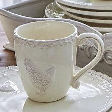 Keramikbecher: Handgefertigtes Landhaus-Geschirr