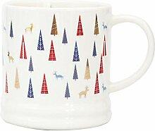 Keramikbecher, Hochwertiges Weihnachtsgeschenk,Tree