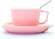 Keramikbecher , Kaffeetasse (rosa)