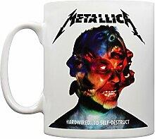 Keramikbecher mit Albumart von Metallicas Hardwired, mehrfarbig