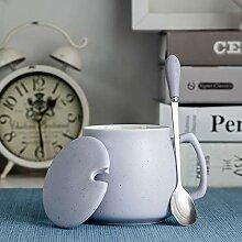 Keramikbecher Mit Deckel Löffel Kreative Paar