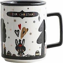 Keramikbecher Mit Deckelmilch Cup Kaffee-tasse