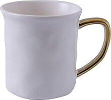 Keramikbecher Mit Goldgriff Kurzer Kaffee Tee