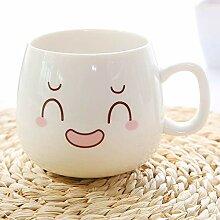 Keramikbecher Mit Griff glücklich