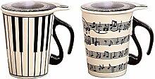 Keramikbecher mit kreativem Musiksymbol, Becher zu