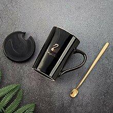 Keramikbecher-Set Tasse Keramik Schwarz Schwan