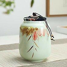 Keramikbehälter, Keramikdose, Teedose für
