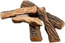 Keramikholz 5-teilig, Holzimitat aus Keramik für Ethanolöfen, von LILIMO ®