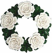Keramikkranz - Rosen - Porzellanblumen - Dekokranz