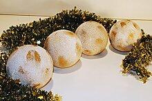 Keramikkugeln,weihnachtliche Dekoration,12cm,4er Se