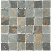 Keramikmosaik Fliesen ardesia slate matt Wand