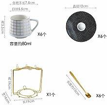 Keramiktasse Cappuccinotassen Keramik Mini 80 Ml