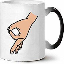 Keramiktasse Farbe ändern Tasse Kaffeetasse