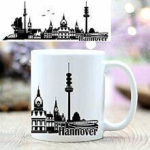 Keramiktasse Skyline von Hannover von Wandtattoo-Loft® / Bedruckte Tasse / beidseitig / Tasse / Becher / Spülmaschinenfes