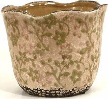 Keramikvase mit Blumenmuster, mittelgroß,