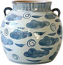 KeramikvaseBlaues und weißes
