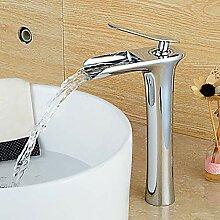 Keramikventil Wasserhahn Modernen Silbernen Hotel