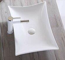 Keramikwaschbecken oval eckig Aufsatz Waschbecken