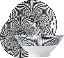 Keramische Bambushutschale Dinner Plate Set 3