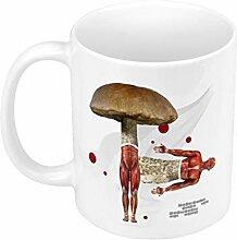 Keramische Becher Anatomie männlicher Pilze