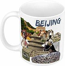 Keramische Becher Beijing Vintage Collage China